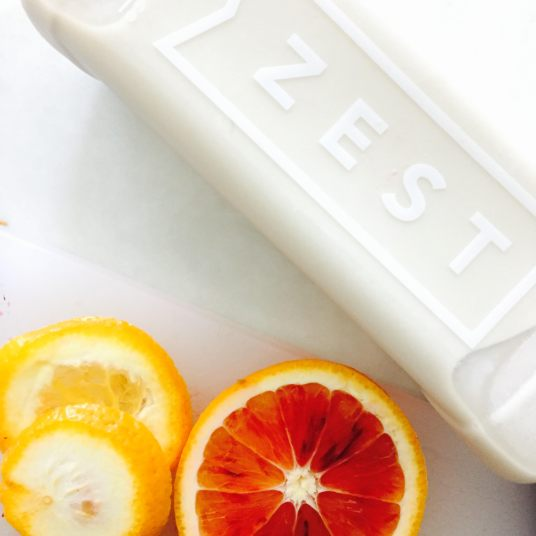 Zest Juice Co. Cashew Milk: filtered water, cashews, coconut oil, vanilla, himalayan sea salt & dates. (and other seasonal ingredients)  BENEFITS:  Protein rich, magnesium, iron