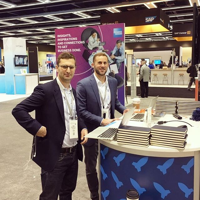 We're at Concur Fusion this week! Come say hi to the Jakes! 🚀✈️🏢🚄🚕 #staywithafriend #ConcurFusion #Seattle