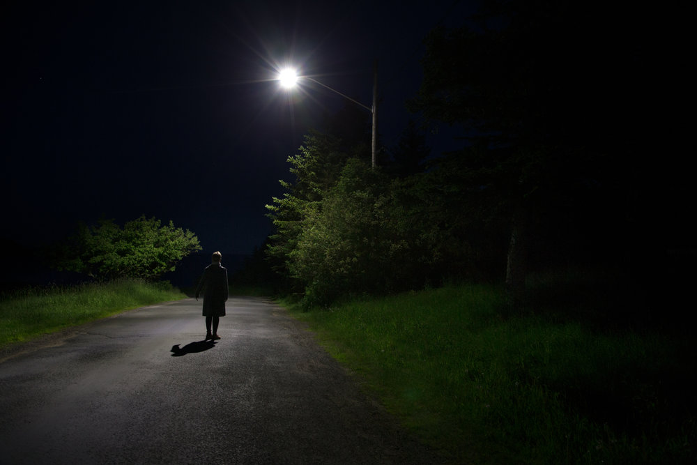 Figure in Road, from the series Raven's Point