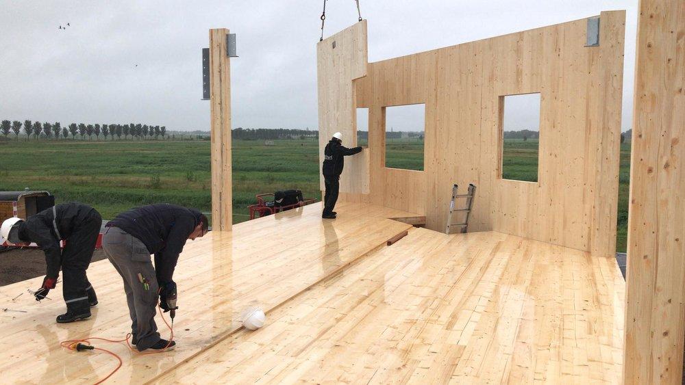 Kat Koree Architecten Sterq Purmerend bedrijfspand nieuwbouw houten constructie