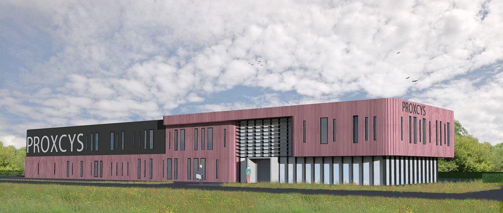 Kat Koree Architecten nieuwbouw bedrijfspand Emmen Proxcys Hardeman gevelbekleding copper
