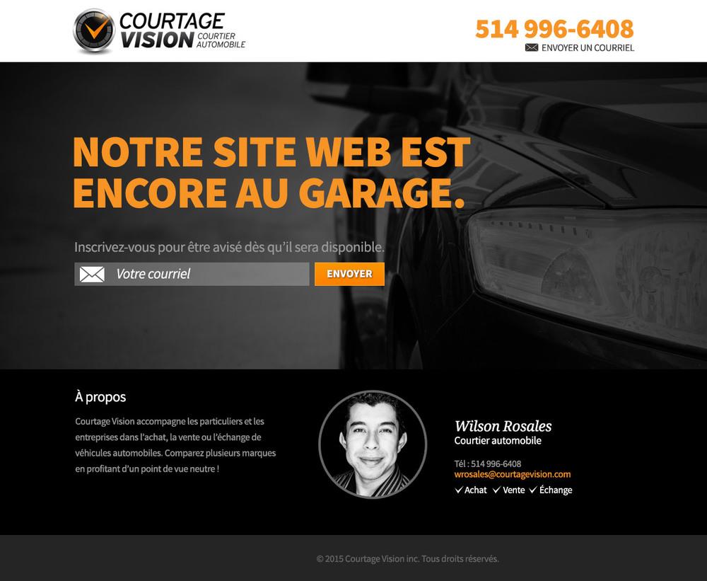 .... Design de page web temporaire .. Temporary web page ....