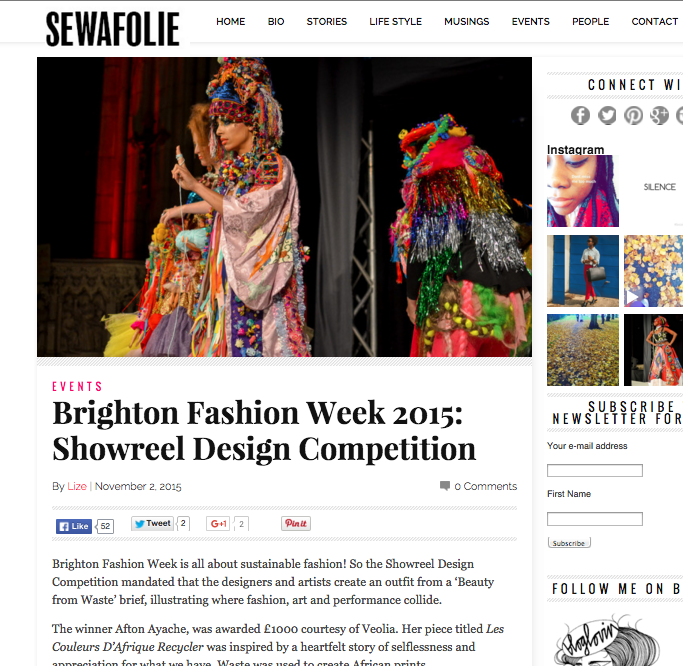 Sewafolie blog,Brighton Fashion Week  october 2015