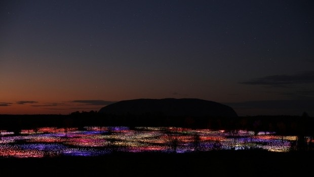 "Bruce Munro's ""Field of Light"" at Uluru, Australia. Photographer: Mark Picktall"