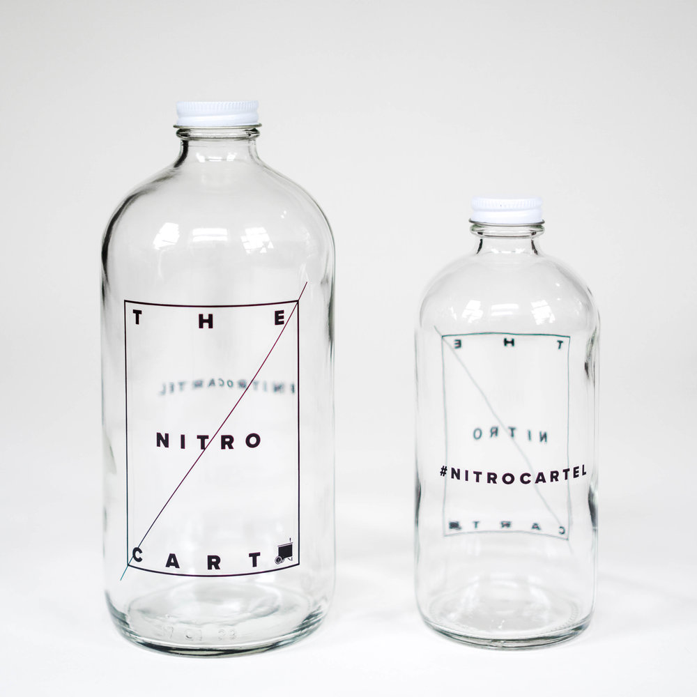 Nitro Cart 32oz Growler - $13    Refills - $10