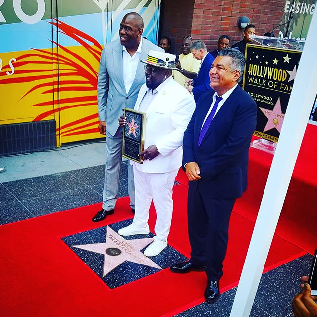 "truly a day to always remember #theone @cedtheentertainer takes his rightful place on @officialhollywoodwalkoffame @magicjohnson @michaelblackson and "" covert"" project with @lparrilla who's more magical in real life #chingonreconizeschingona"