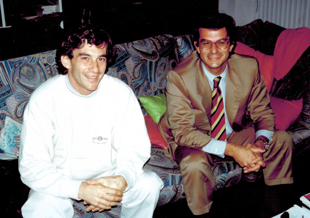 Guido Balocco with F1 driver Ayrton Senna