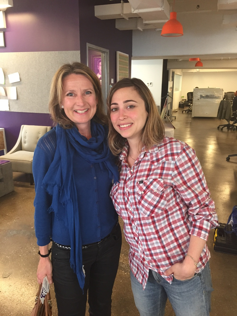 Claire with Ayah Bdeir in littleBits HQ in New York