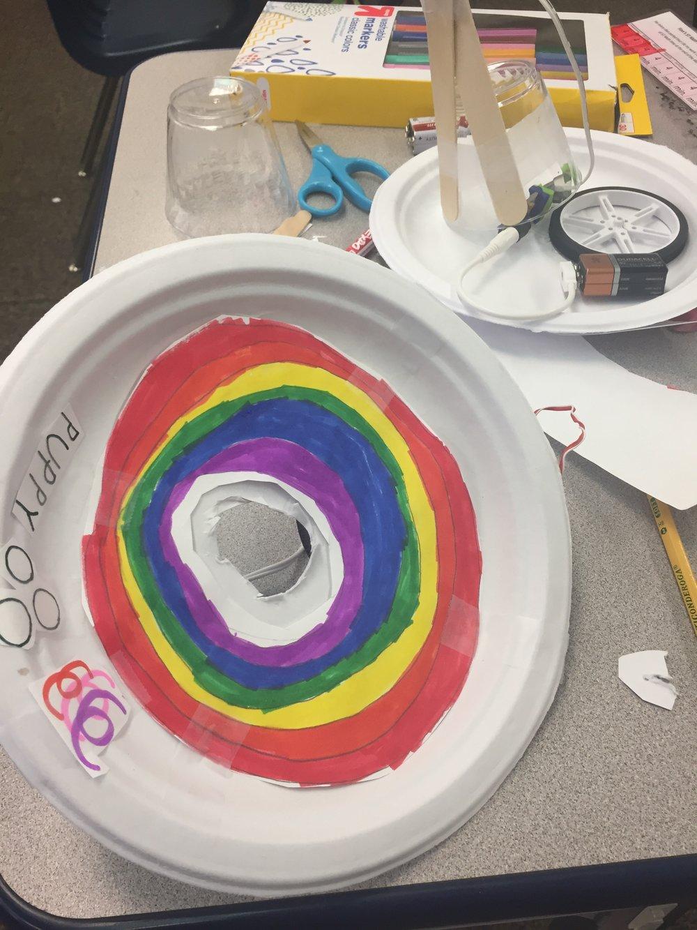 Rainbow Funfair! Fun making a littleBits prototype