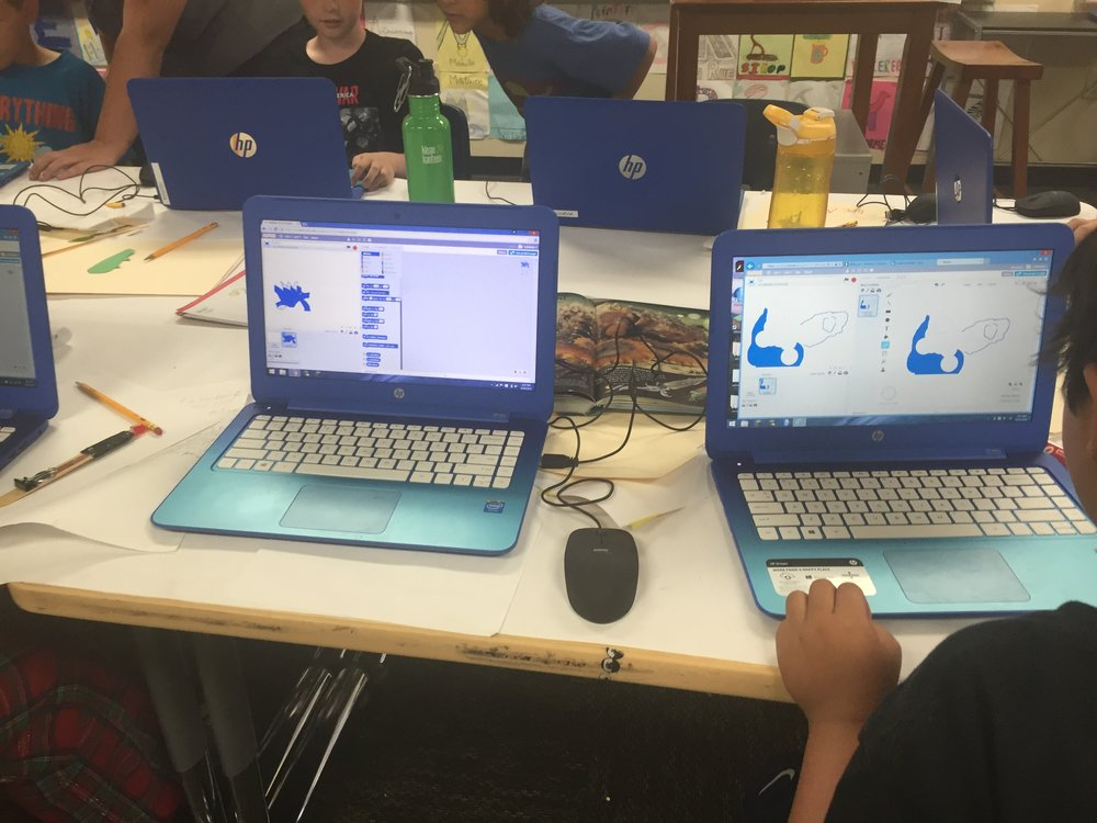 taking ideas built in the physical world into digital environments - animating ideas for crazy creatures in scratcH