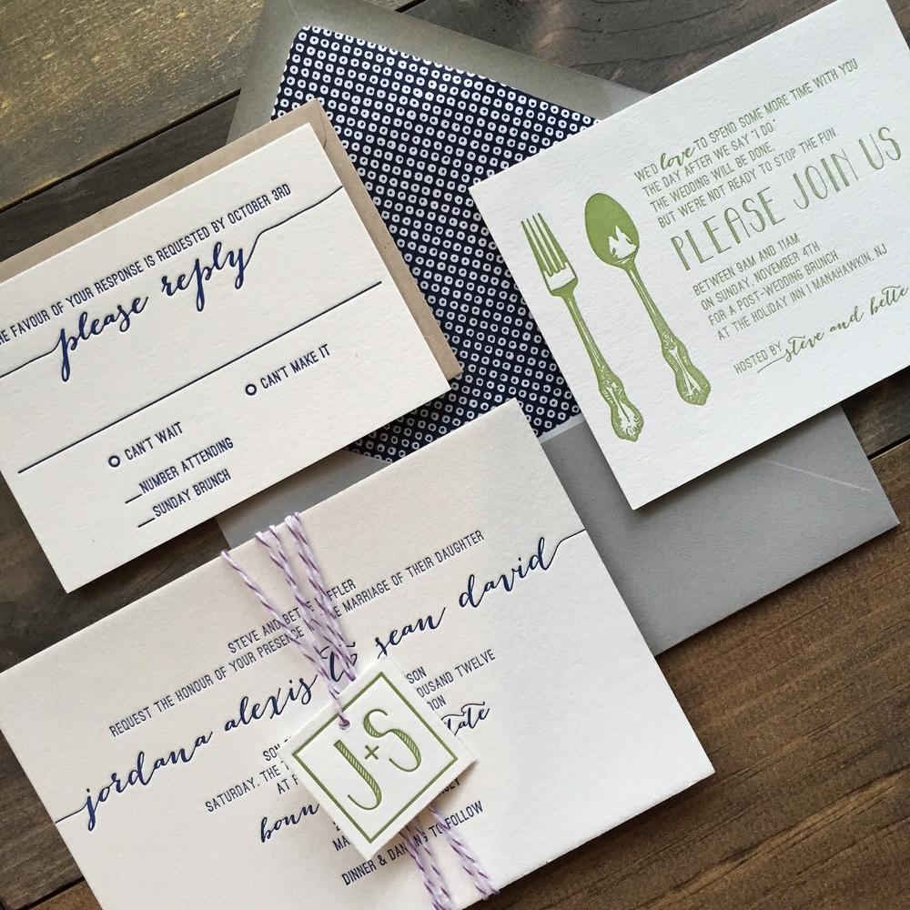 darling pearl letterpress wedding invitation cutlery navy sage.jpg