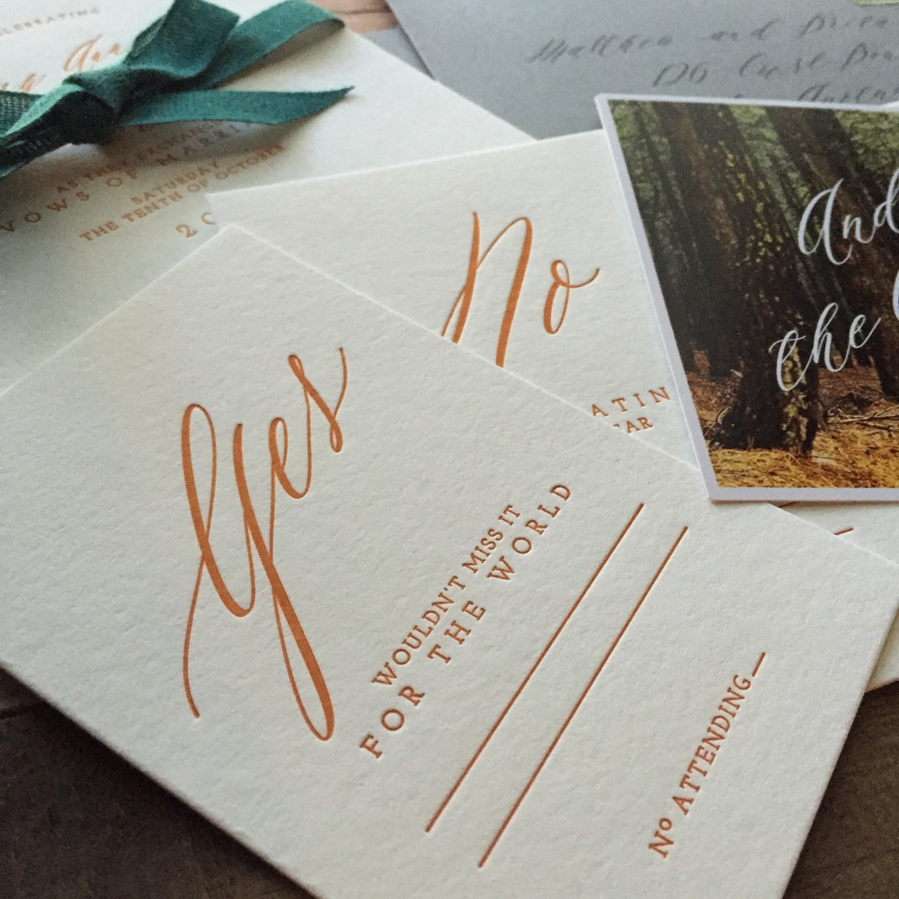 darling pearl letterpress wedding invitation rust copper response card.jpg