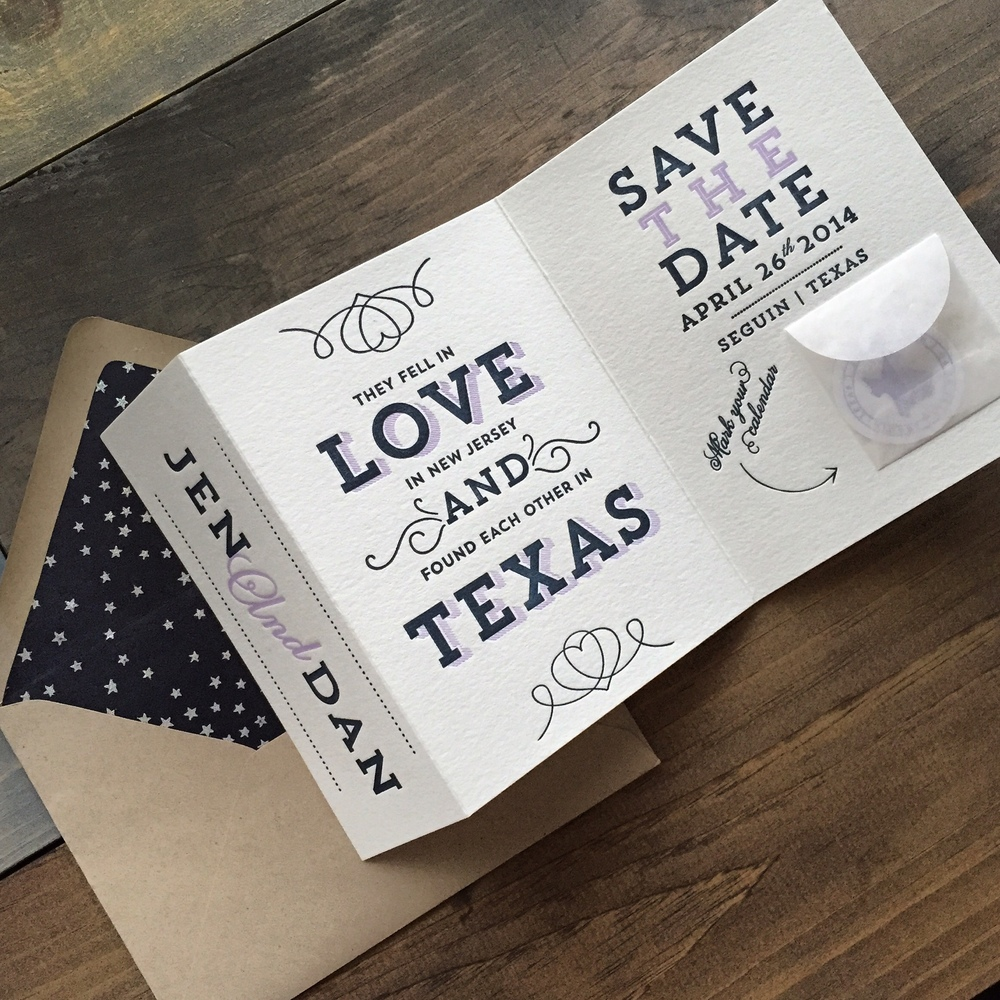 darling pearl letterpress wedding invitation texas save the date.jpg