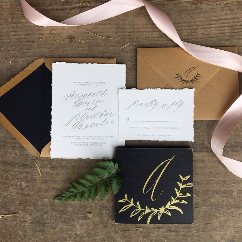 letterpress weddign invitations darling pearl black gold blush calligraphy-2.jpg