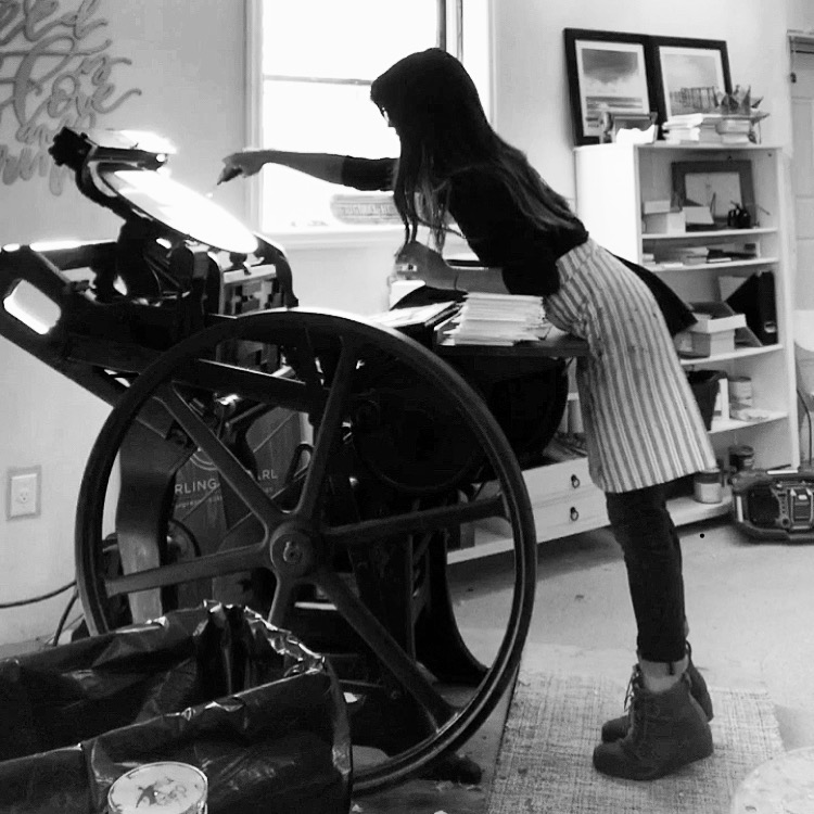 LAUREN REED  |  owner, designer + letterpress artist   cast iron collector,latte enthusiast, instagram junkie    photo credit: l. neff
