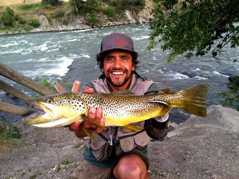 Fishing for dinner on the Yellowstone River, MT! PHOTO: Eugenio Garcia