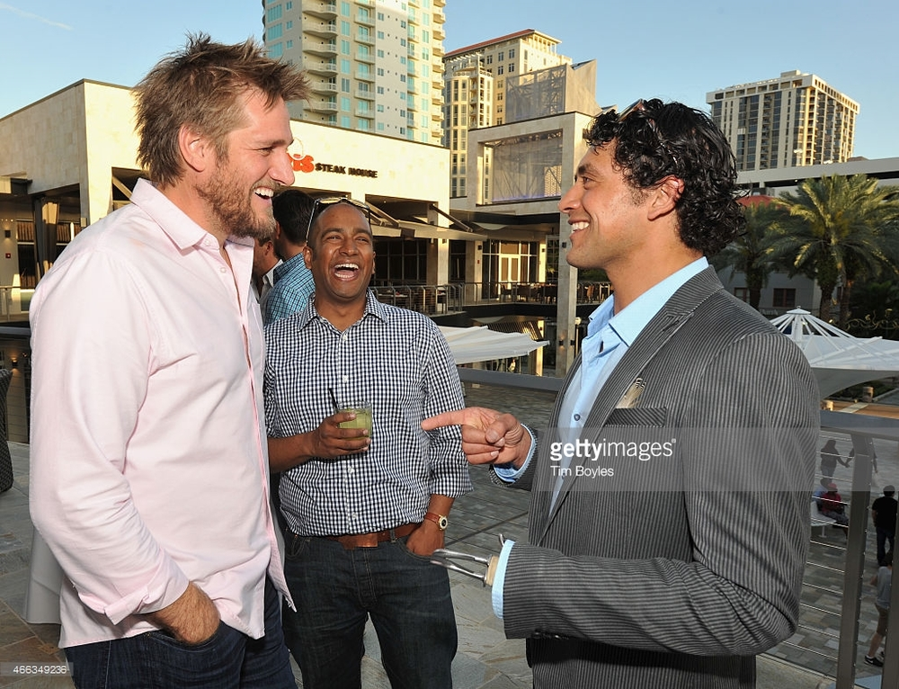 Talking shop with Chef Curtis Stone and Chef Ranga Perera... PHOTO: Tim Boyles