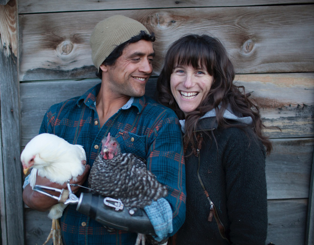 Hanging with Jen and the Chickens. PHOTO: John Levitt