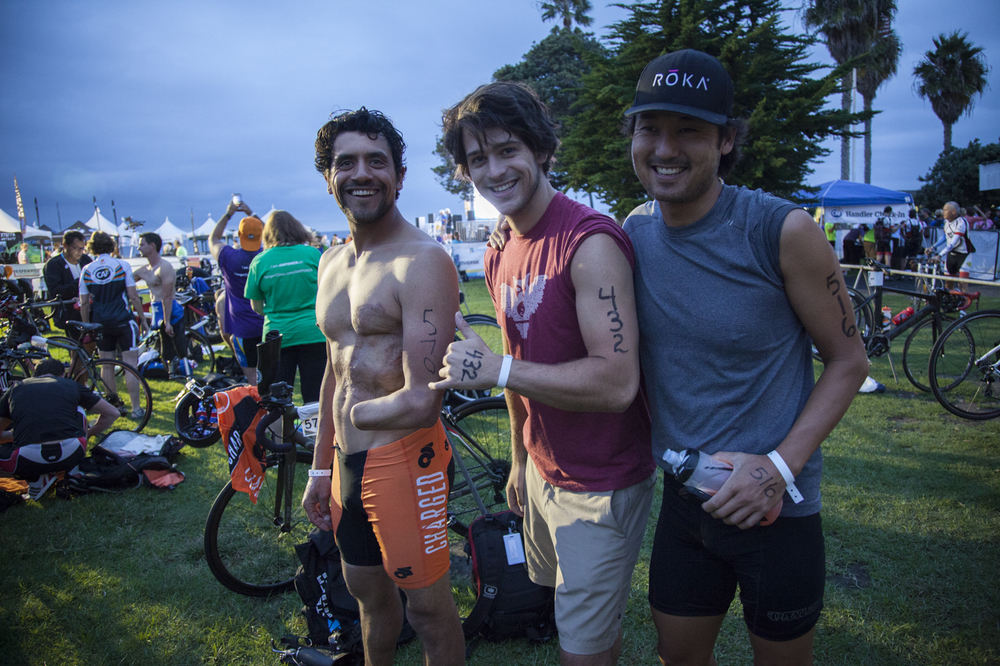 Bringing business and buddies together, Chris and Kurtis join me for the CAF Triathlon 2015! PHOTO: Jennifer Jane