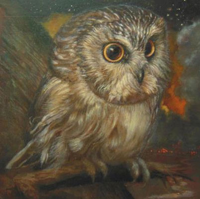 Saint Gregory The Wonder Worker As A Saw Whet Owl