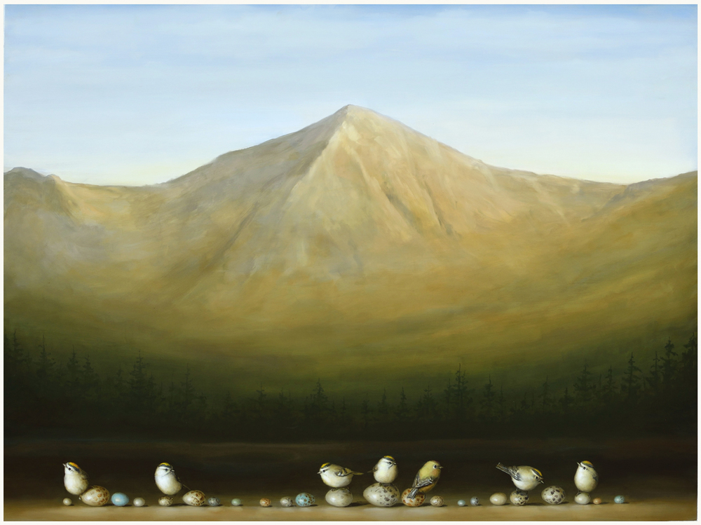 mountain and eggs