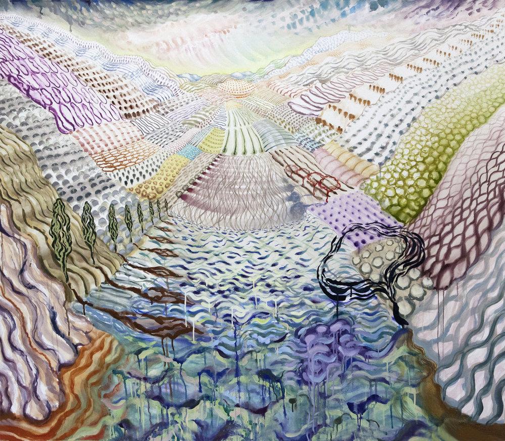 Lago di Como 1, 2017, Watercolor and gouache on paper, 55x64.