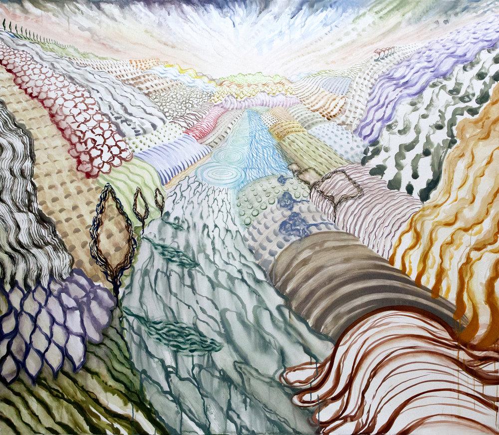 Lago di Como 2, 2017, 55x64, Watercolor and gouache on paper