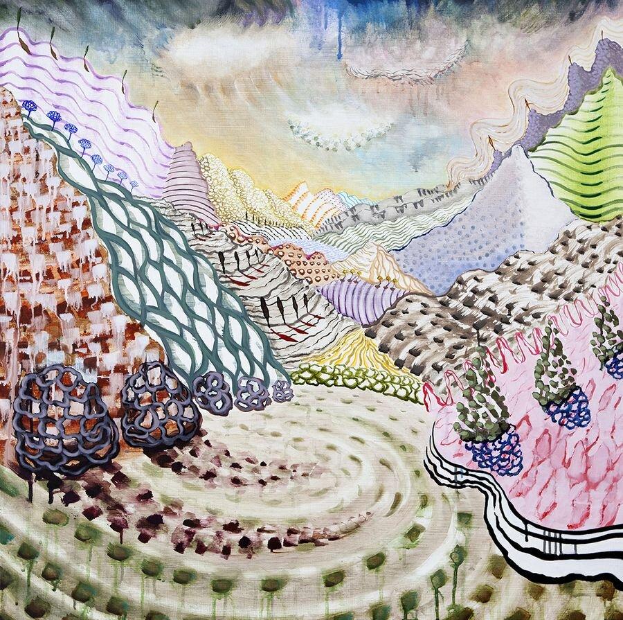 Lago di Como 37 36x36 Acrylic on canvas