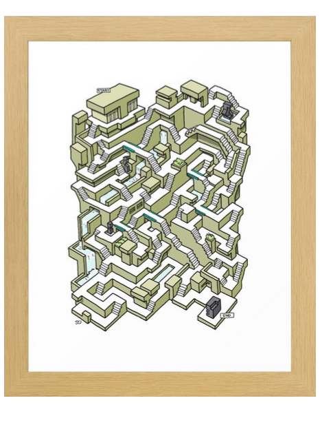 Maze prints at my Society 6 shop