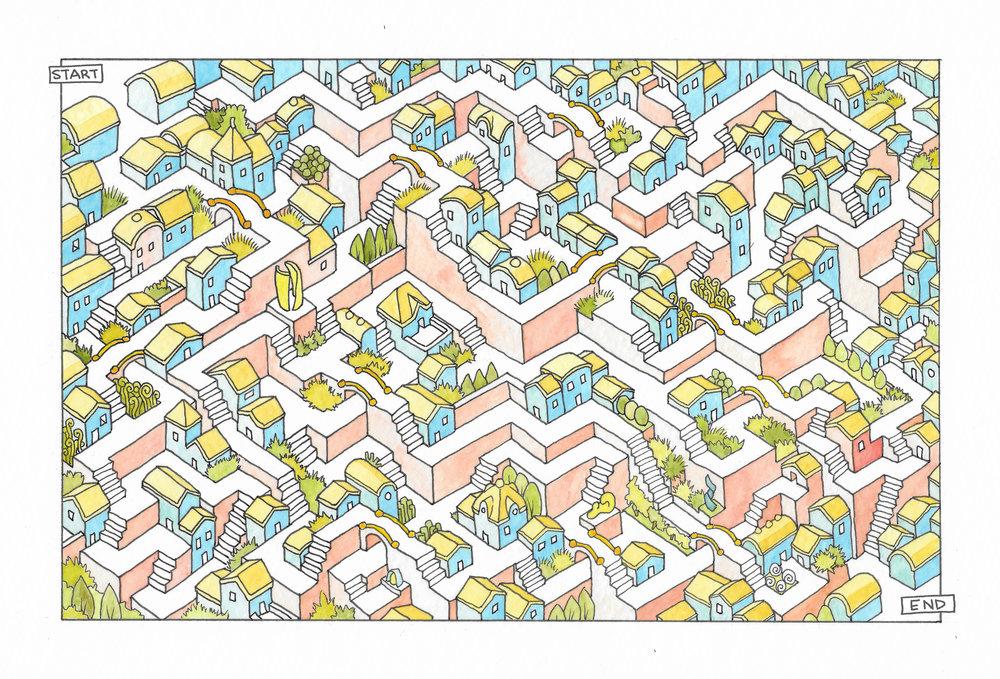 098 Watercolor Maze