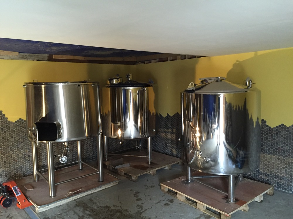Brewhouse arrives! December 2015