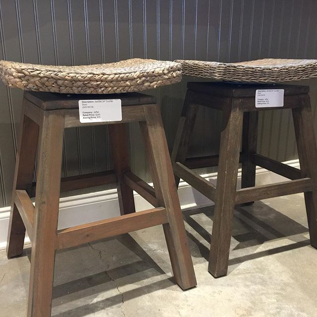 "Our store closing sale includes some great finds for your home such as these 24"" counter stools!"