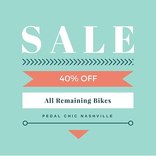 All remaining bikes now 40% off! Come get your holiday shopping done early! Check out our website for details on all remaining models.