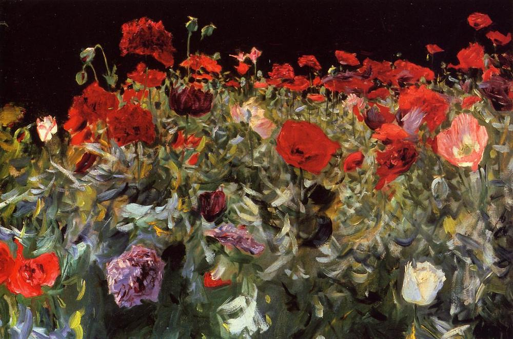 Four oil pastel work by John Singer was sold for $11.2 million USD. The sale was led by poppies.