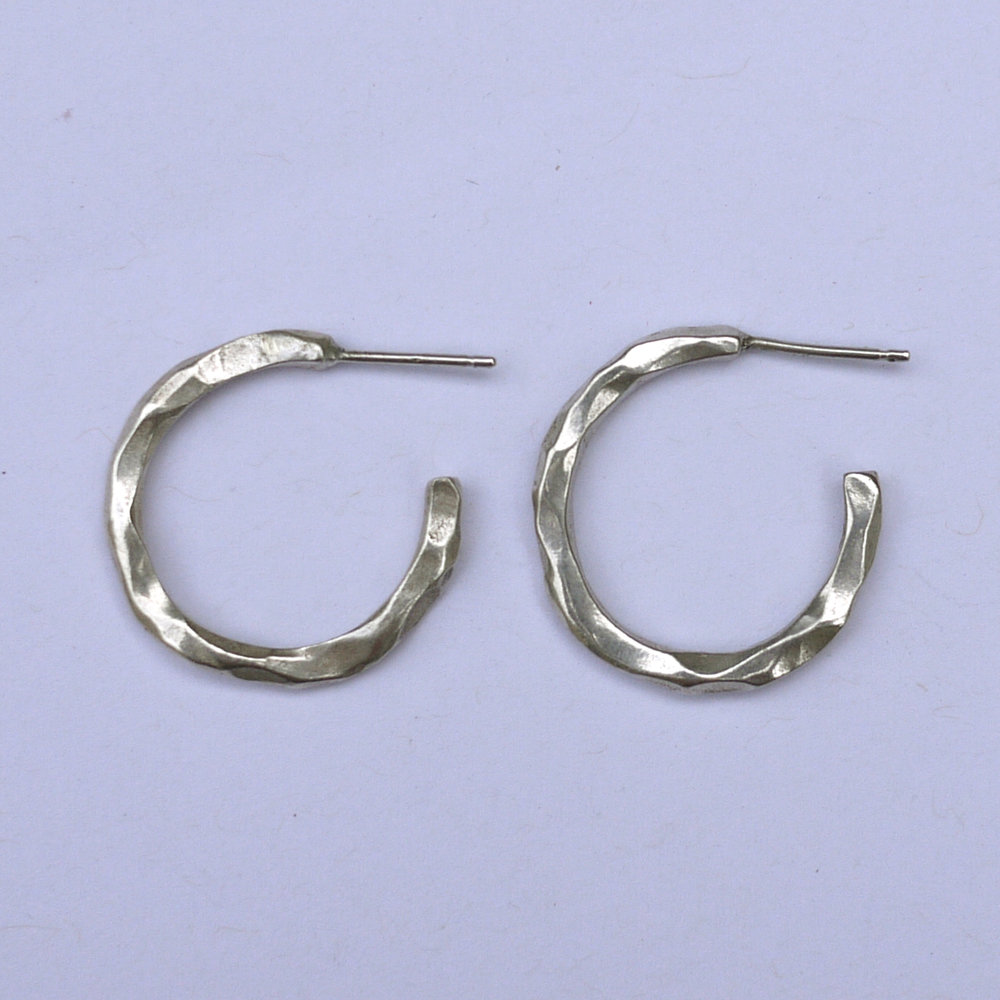 Alba Hoops - Sterling Silver