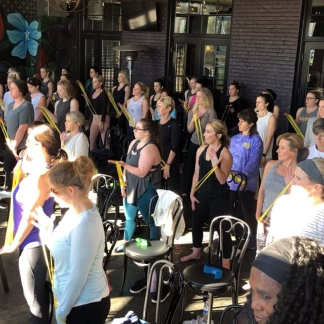 Wowzie... talk about Sunday Funday!!! We love the energy this morning!!!! Thanks to everyone that came out today! #barrethenbrunch #barrefun #fitness225 #communitybarre