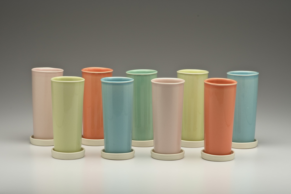 Tupperware Tumblers with Coasters