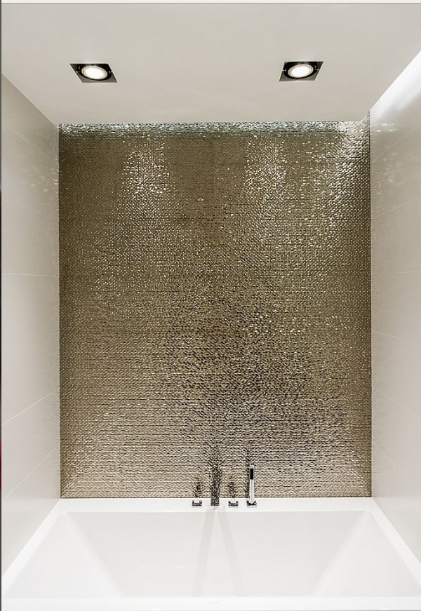 Metallic-y and Texture-y... great for a bathroom