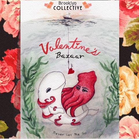 Valentine's shopping & fundraiser tonight for ACLU at Brooklyn Collective tonight from 6pm-9pm!! Shop locally made goodies & donate to ACLU by entering the raffle full of handmade treasures! @brooklyncollective ❤️❤️❤️