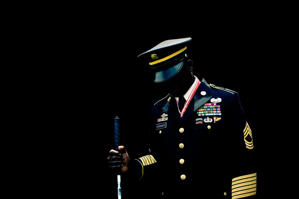 blind soldier
