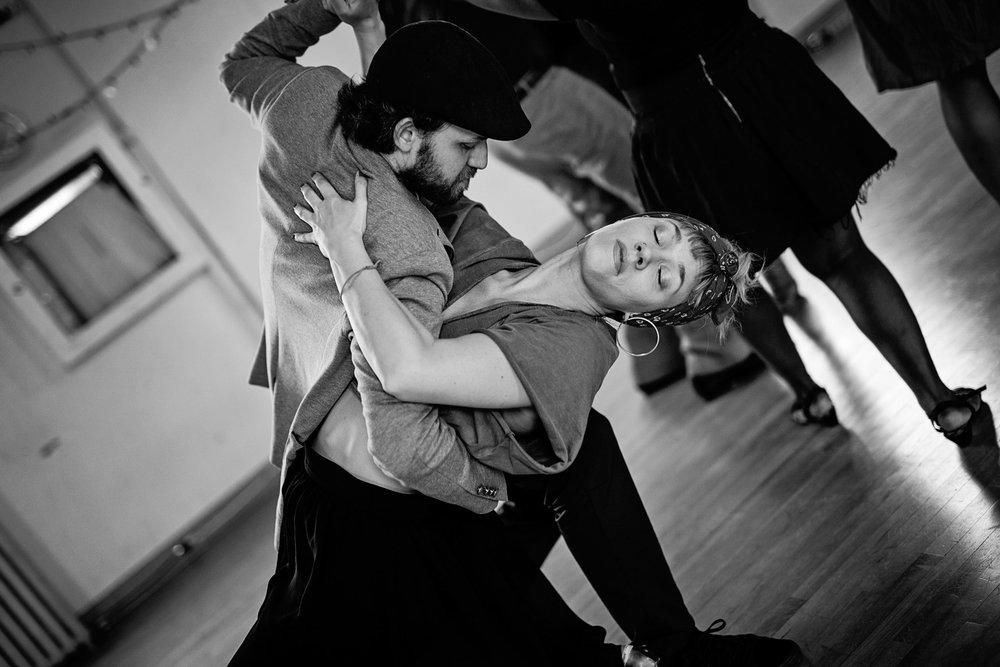 "Dancers Miha Matevzic and Caroline ""Lady C"" Fraser. Credit: Tamara Romanchuk."