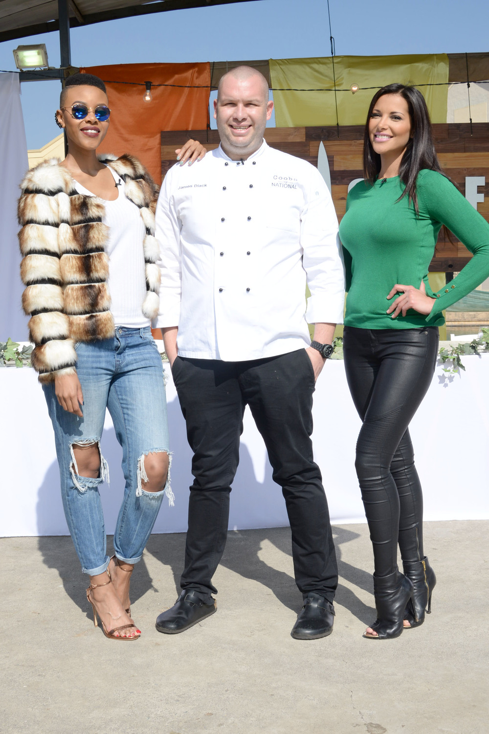 "Luthando ""Loot Love"" Shosa, Chef James Diack, Lee-Ann Liebenberg"