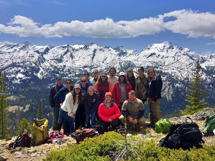 Group picture from the top of the butte (about 7100 ft!)