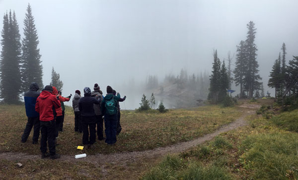Using our compasses – Carmine and Little Carmine are somewhere in that fog!