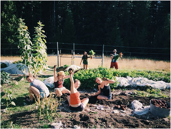 Landscape and Livelihood students digging for potatoes, one of our favorite activities