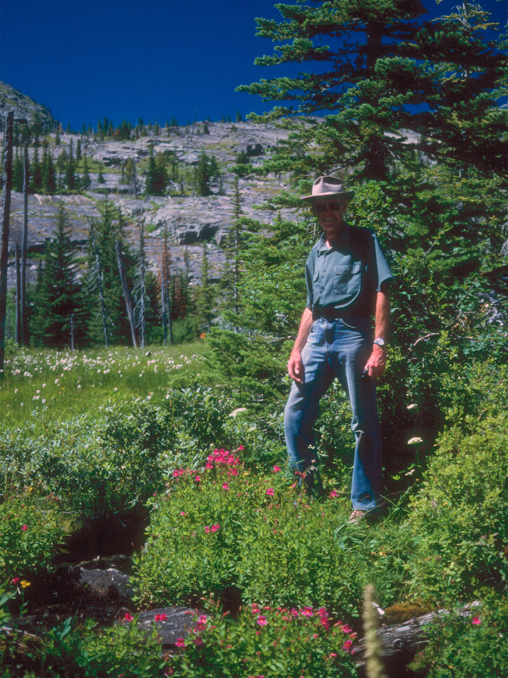 Rod in the Mission Mountains