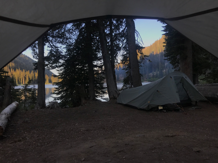 View from the camping spot at Upper Holland Lake.     Photo by Lily Lang