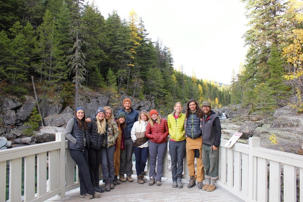 Students and Field Program Coordinator Lindsay Wancour in Glacier National Park