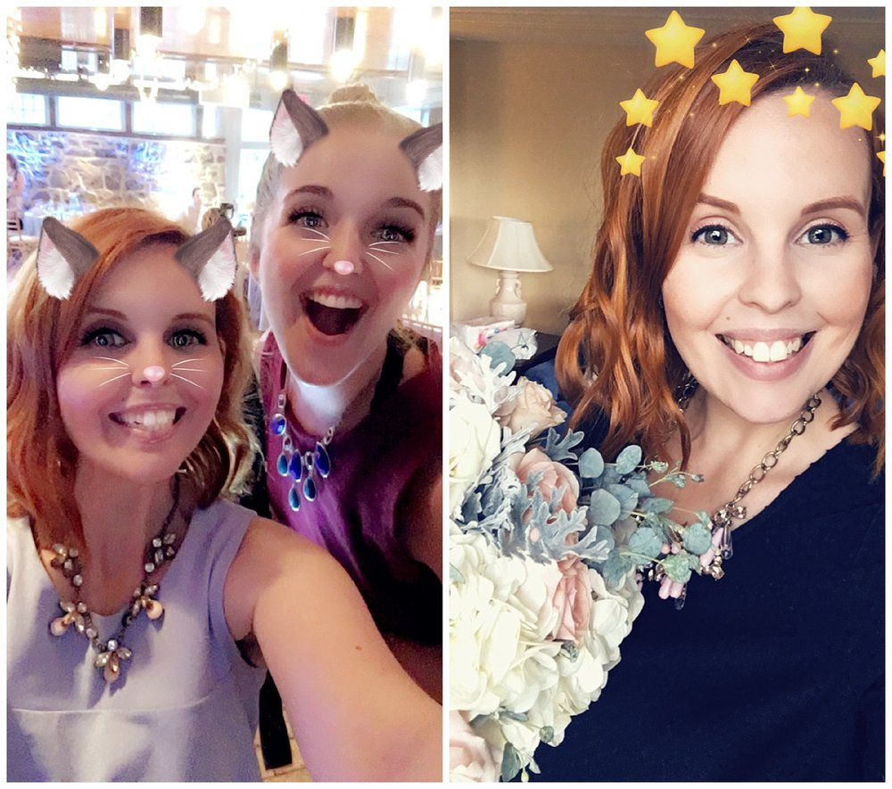 Just because we're wedding photographers doesn't mean we don't take 99% of our photos with Snapchat.