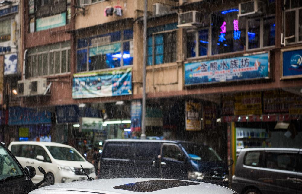 Raining in Mong Kok